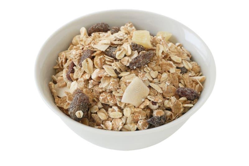Cereales con las frutas secas imagen de archivo