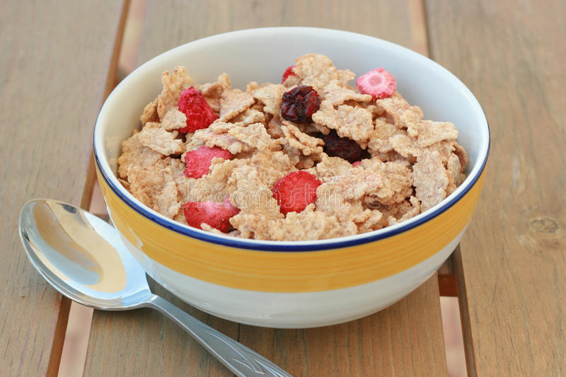 Cereales con las frutas secas foto de archivo libre de regalías