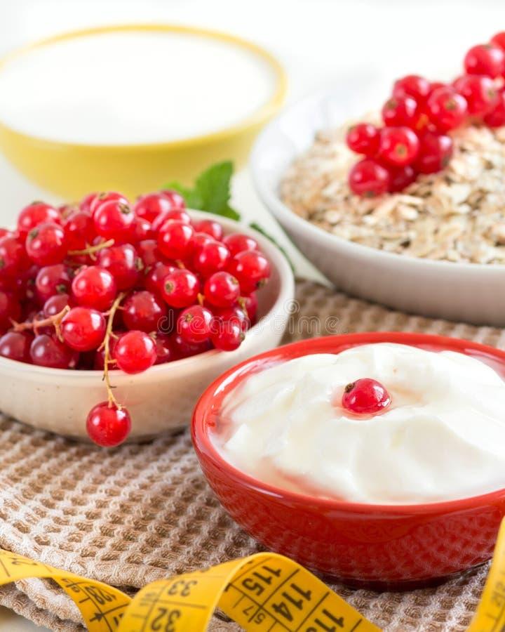 Download Cereales Con Las Pasas Rojas Y El Yogur Foto de archivo - Imagen de pasa, alimento: 44854984