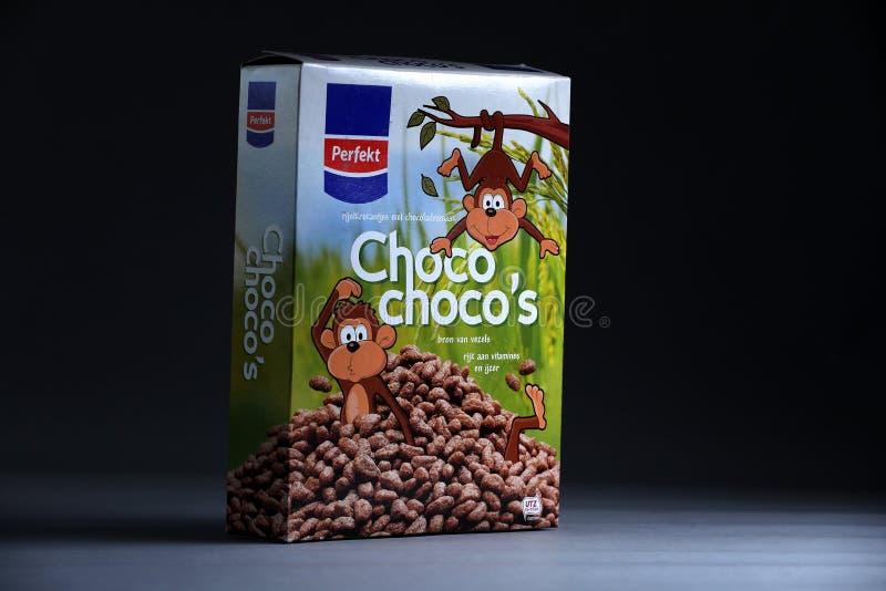 Cereales de Choco de Perfekt, marca holandesa imagen de archivo