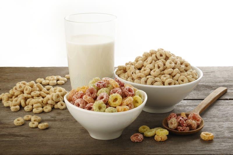 Cereales de desayuno fotografía de archivo