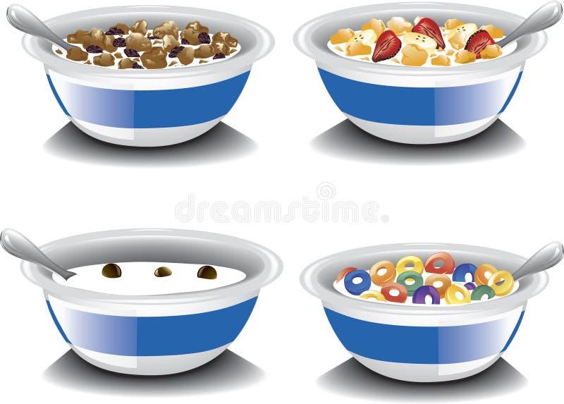 Cereales de desayuno clasificados stock de ilustración