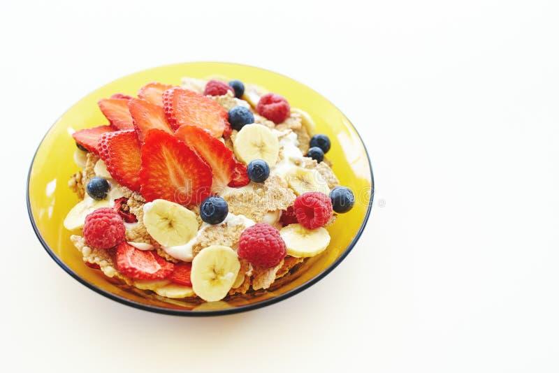 Cereales de desayuno sanos fotos de archivo