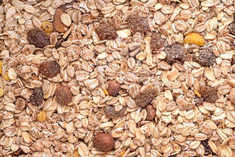 Cereales de la mezcla de las nueces imagenes de archivo