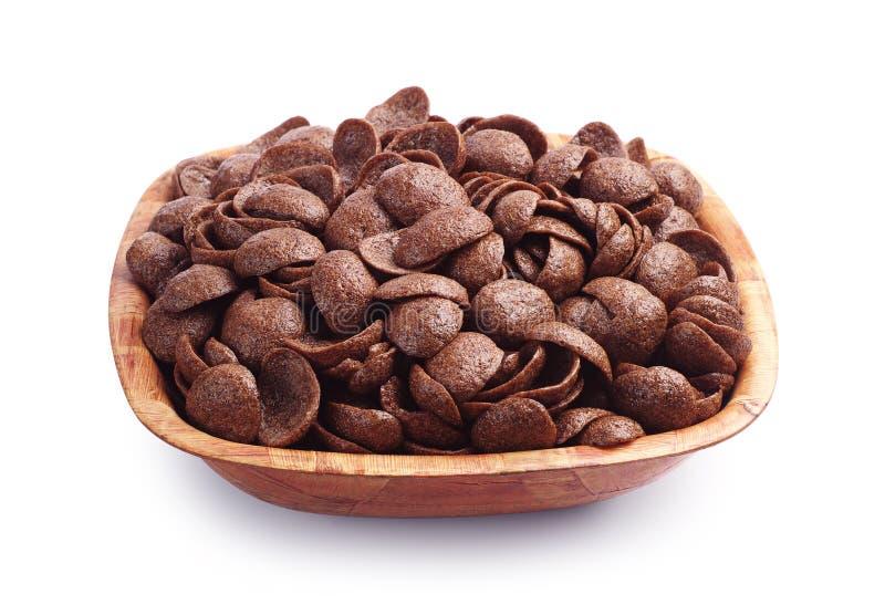 Cereali del cioccolato immagini stock