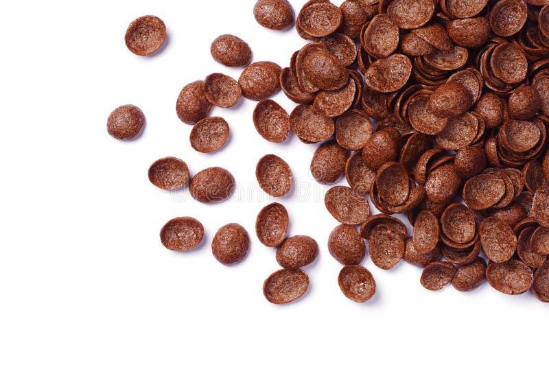 Cereali del cioccolato fotografia stock libera da diritti