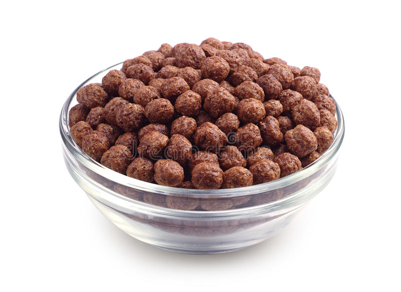 Cereali del cioccolato in ciotola fotografia stock