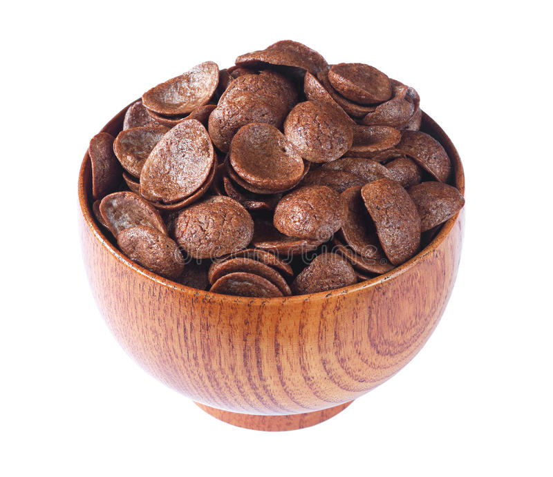 Cereali del cioccolato in ciotola immagini stock