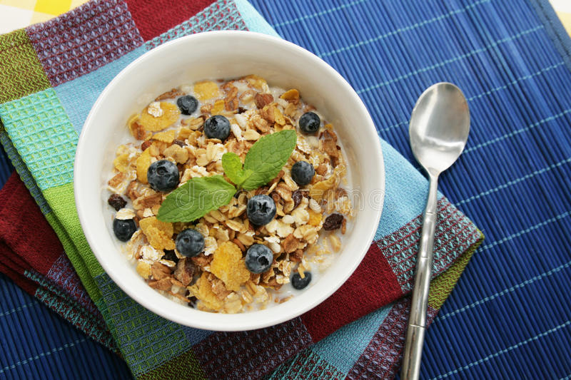 Cereals for Breakfast stock photography