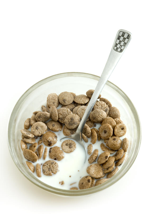 Cereals with milk stock images