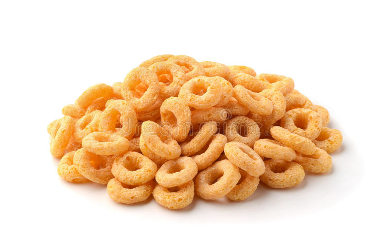 The cereals rings. Cereals rings isolated on white stock photo