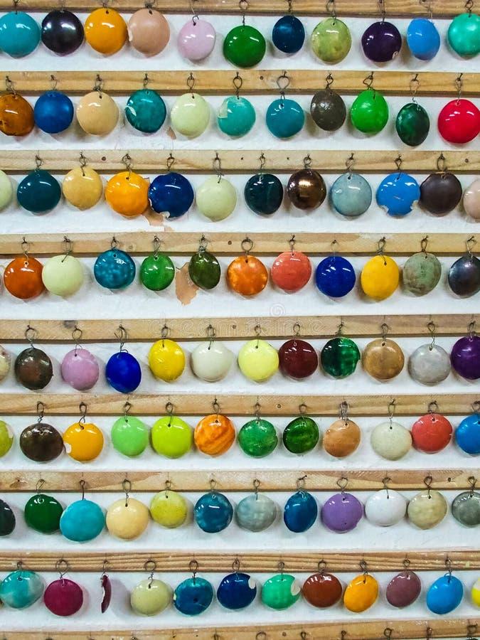 Cereamic colour demonstracja i expo typy colours robić ceramiczny zdjęcia royalty free