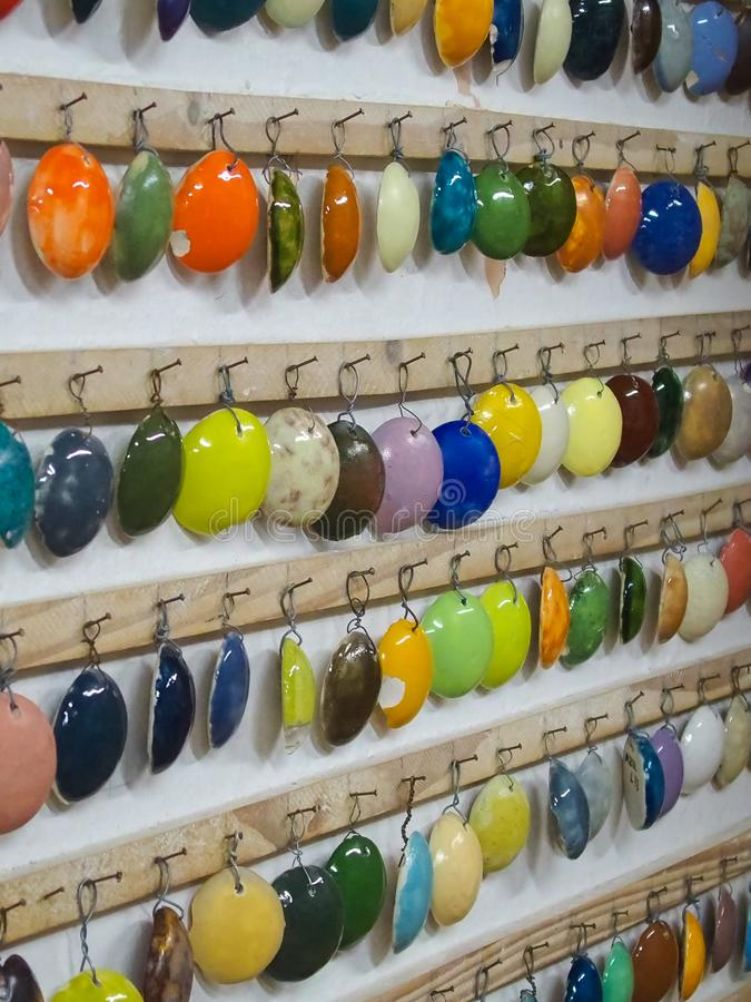Cereamic colour demonstracja i expo typy colours robić ceramiczny royalty ilustracja
