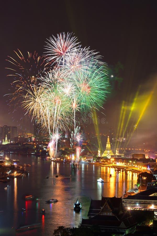 Cerebrations del Año Nuevo de Bangkok fotografía de archivo