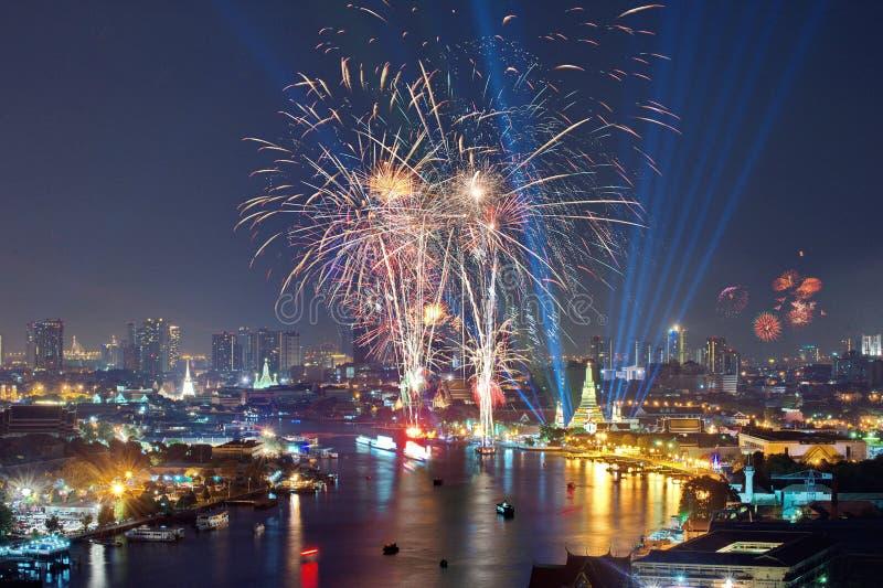 Cerebrations del Año Nuevo de Bangkok fotos de archivo libres de regalías