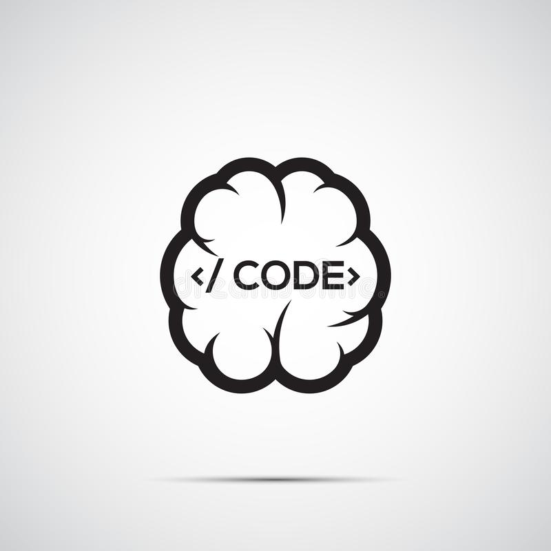 Cerebro con código stock de ilustración