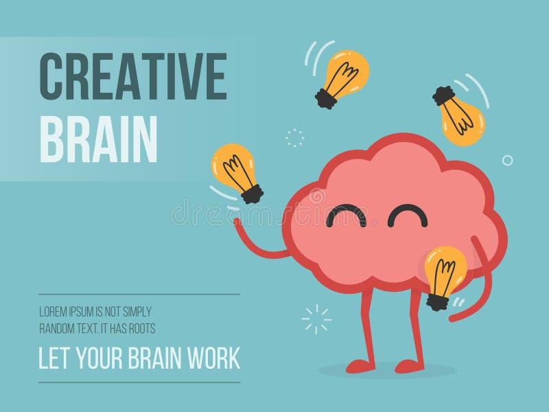 Cerebro creativo stock de ilustración