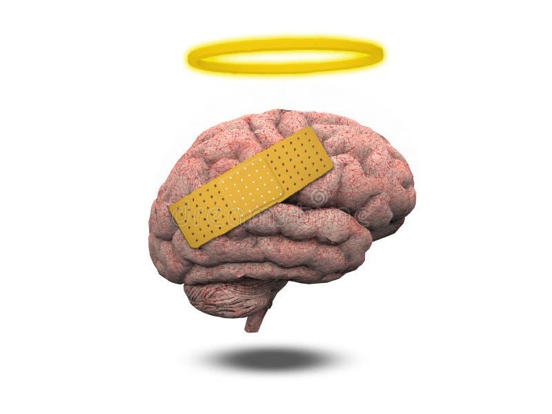 Cerebro curativo ilustración del vector