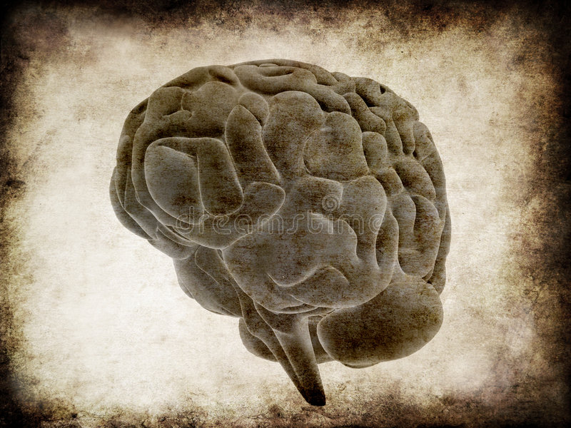 Cerebro de Grunge stock de ilustración