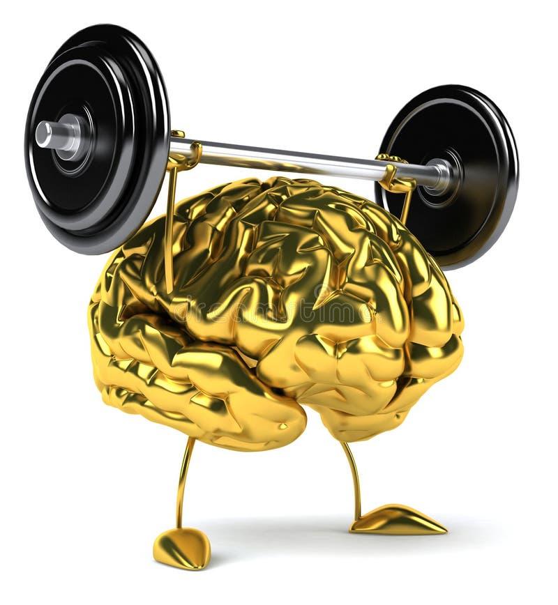 Cerebro de la diversión stock de ilustración