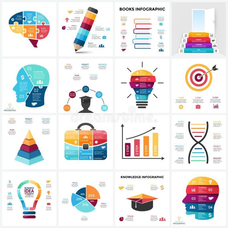 Cerebro De La Educación Del Vector Infographic Diagrama De La Mente ...