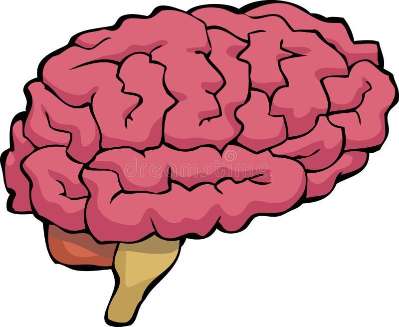 Cerebro de la historieta libre illustration