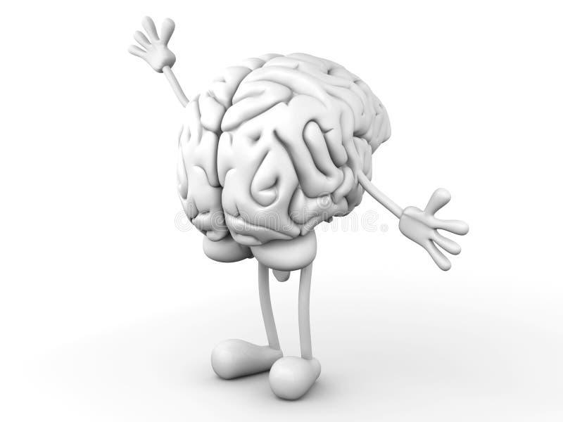 Cerebro de la historieta stock de ilustración