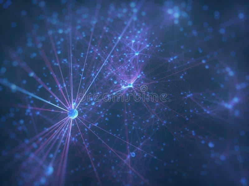Cerebro de los nervios biomecánico de la inteligencia artificial de las células stock de ilustración