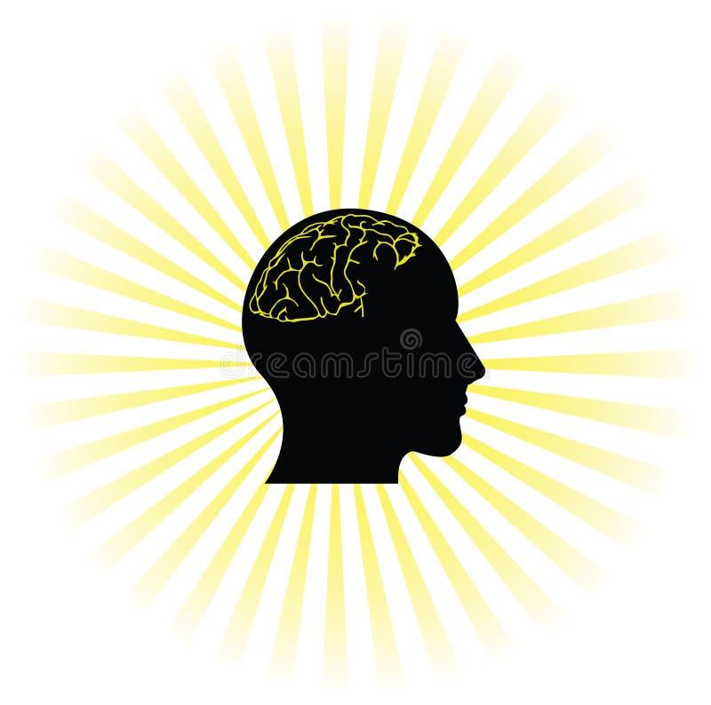 Cerebro de trabajo stock de ilustración