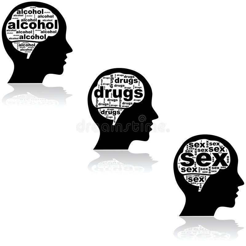 Cerebro de un adicto libre illustration
