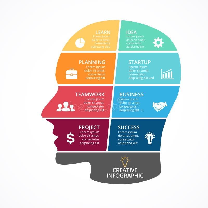 Cerebro Del Vector Infographic Plantilla Para El Diagrama De La ...