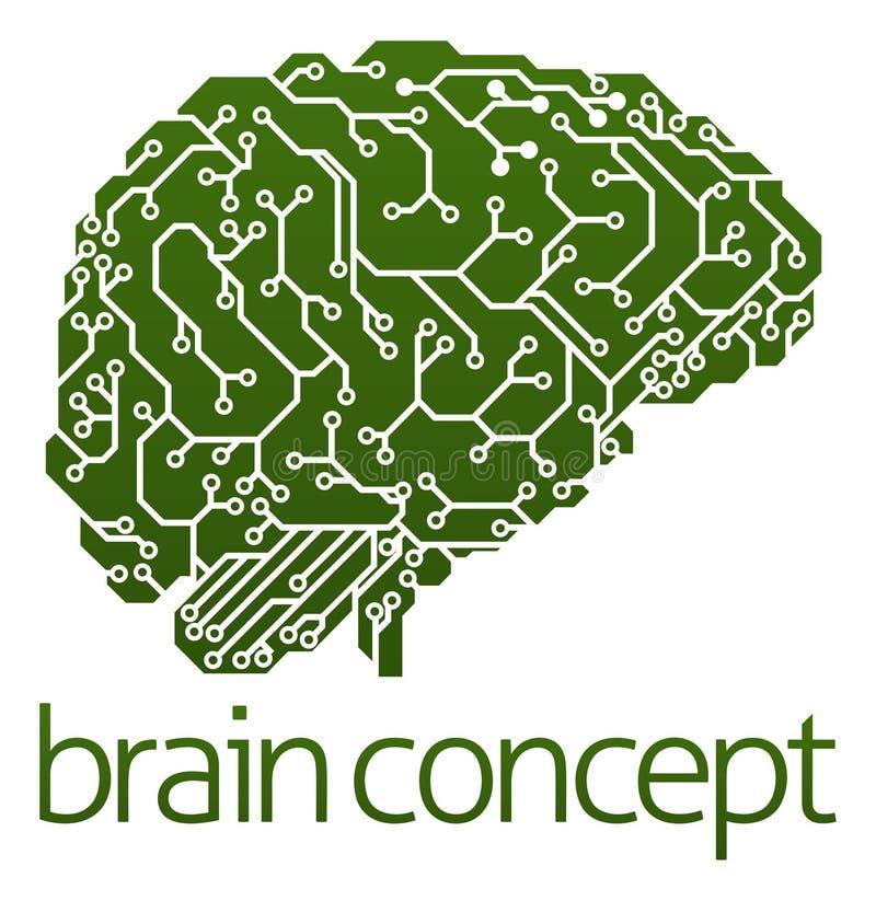 Cerebro eléctrico de la placa de circuito stock de ilustración