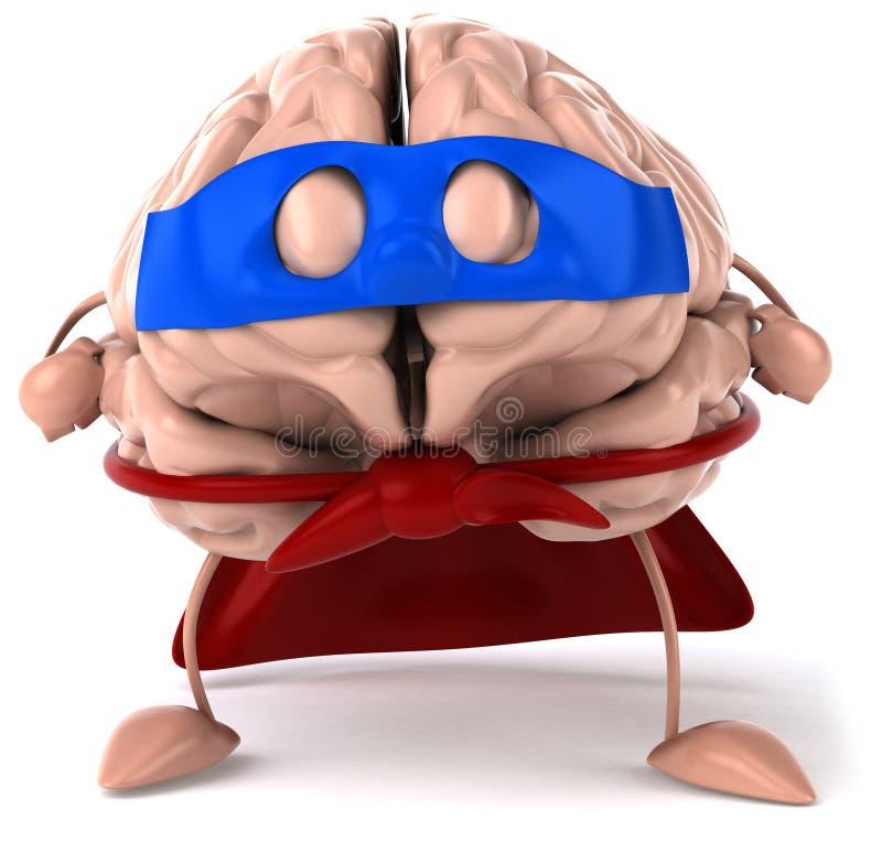 Cerebro estupendo stock de ilustración