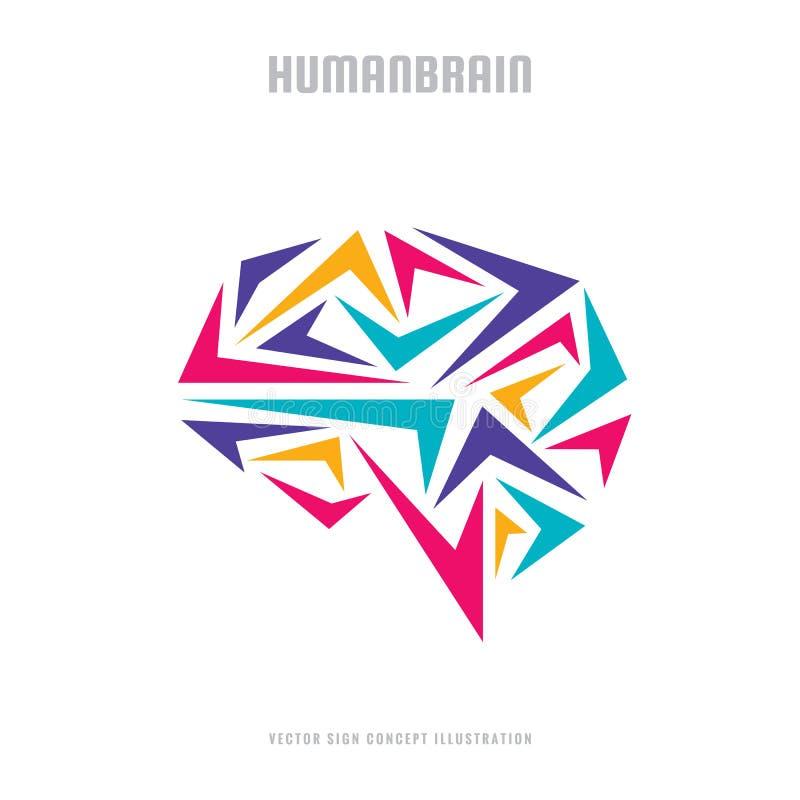 Cerebro humano abstracto - ejemplo del concepto de la plantilla del logotipo del vector del negocio Muestra creativa de la idea S stock de ilustración