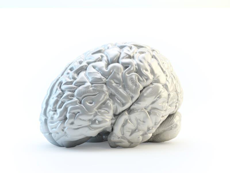 Cerebro humano abstracto hecho fuera de meta brillante libre illustration