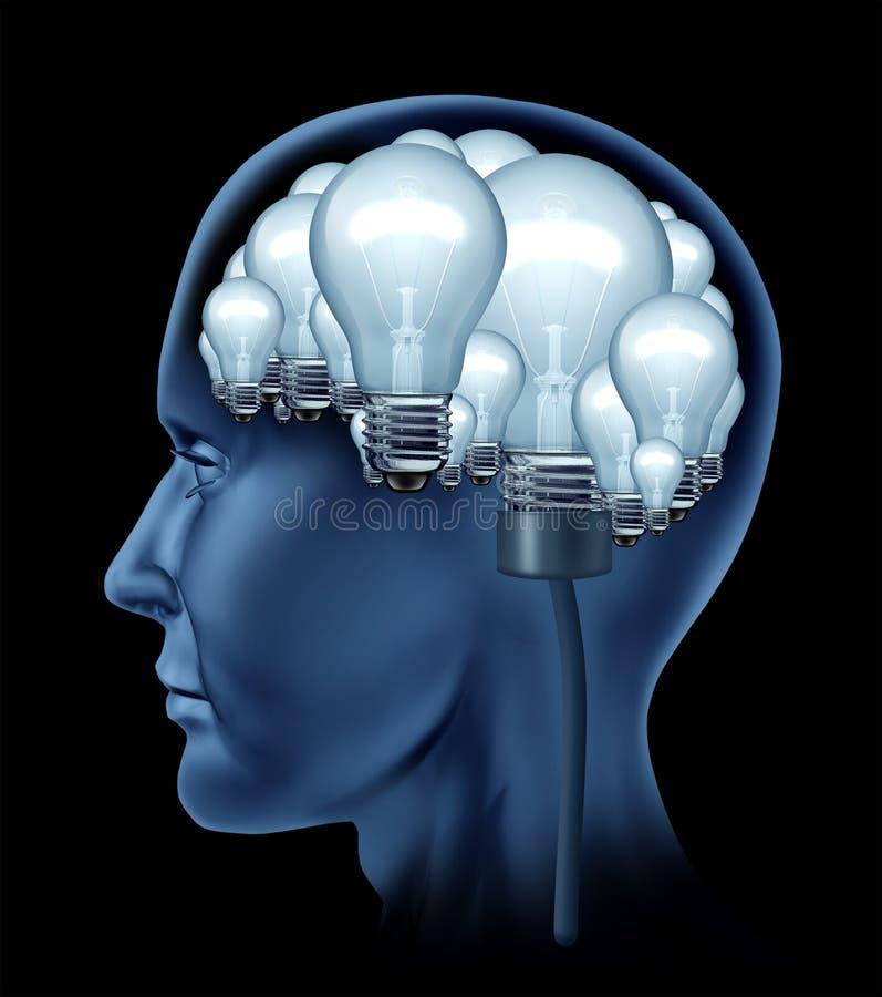 Cerebro humano creativo ilustración del vector
