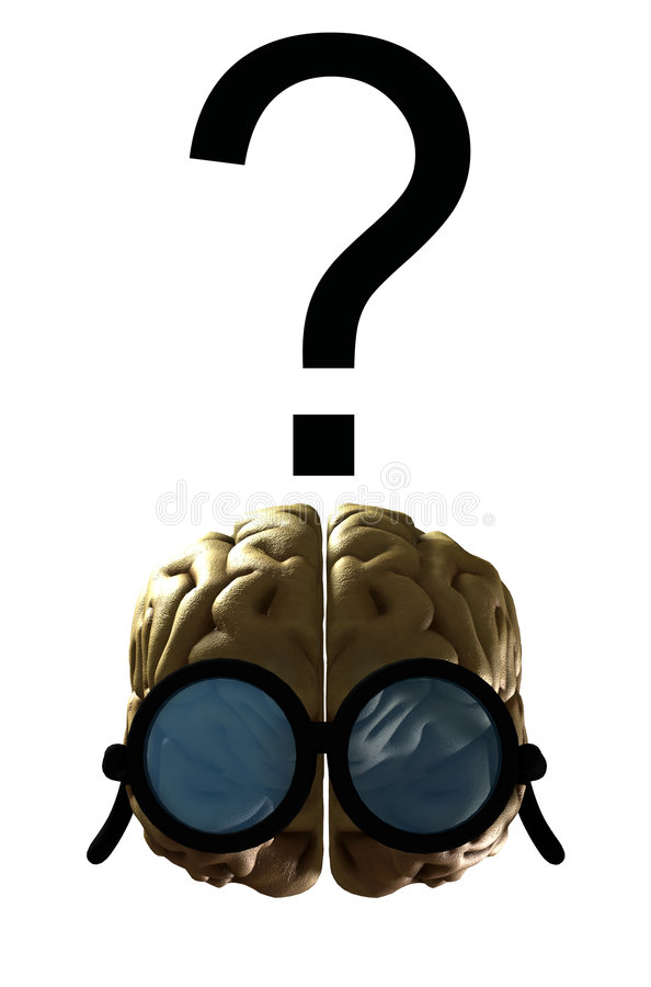 Cerebro listo confuso libre illustration