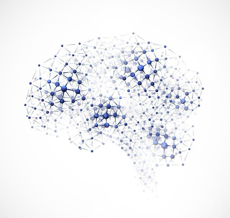 Cerebro molecular stock de ilustración