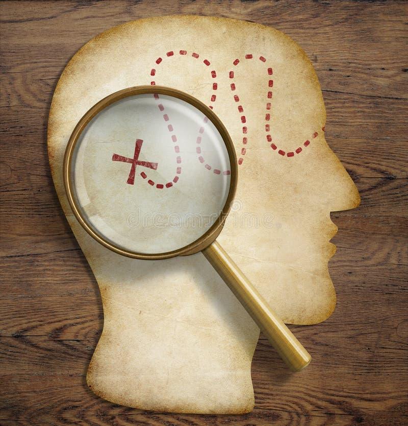Cerebro, mundo interno, psicología, exploración del talento imagenes de archivo