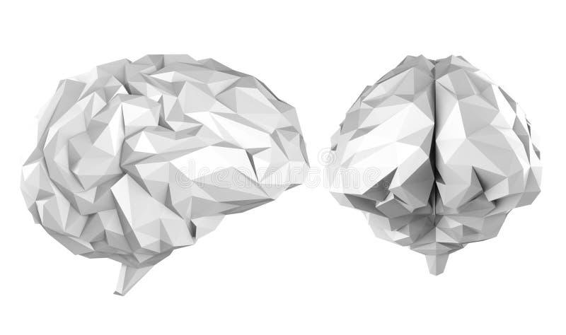 Cerebro poligonal gris libre illustration