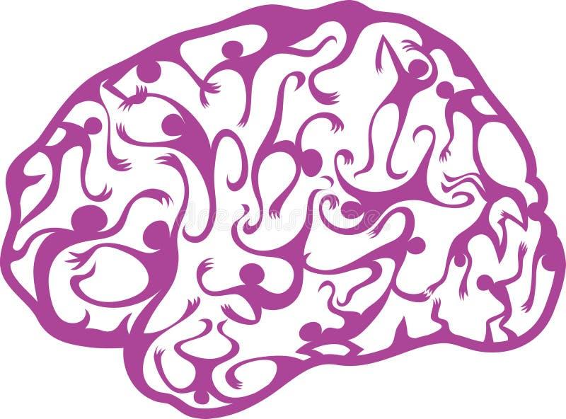 Cerebro psicodélico ilustración del vector