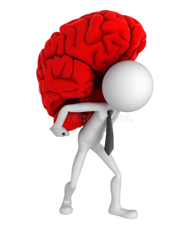 Cerebro que lleva del hombre de negocios en sus hombros ilustración del vector