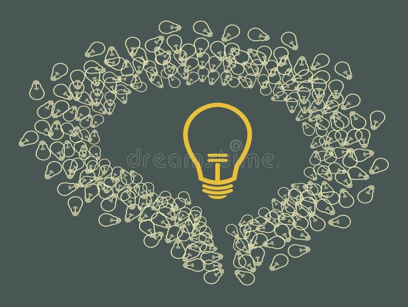 Cerebro y bulbos libre illustration