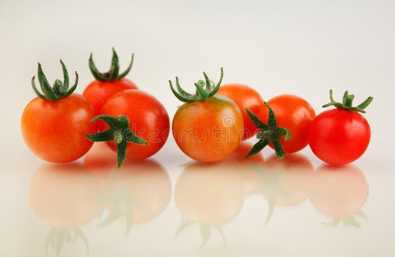 Cereja dos tomates fotografia de stock royalty free