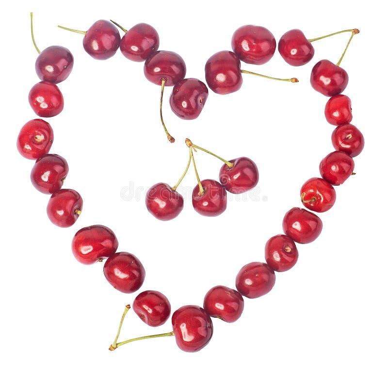 Cereja, muitas cerejas, vermelhas imagem de stock royalty free
