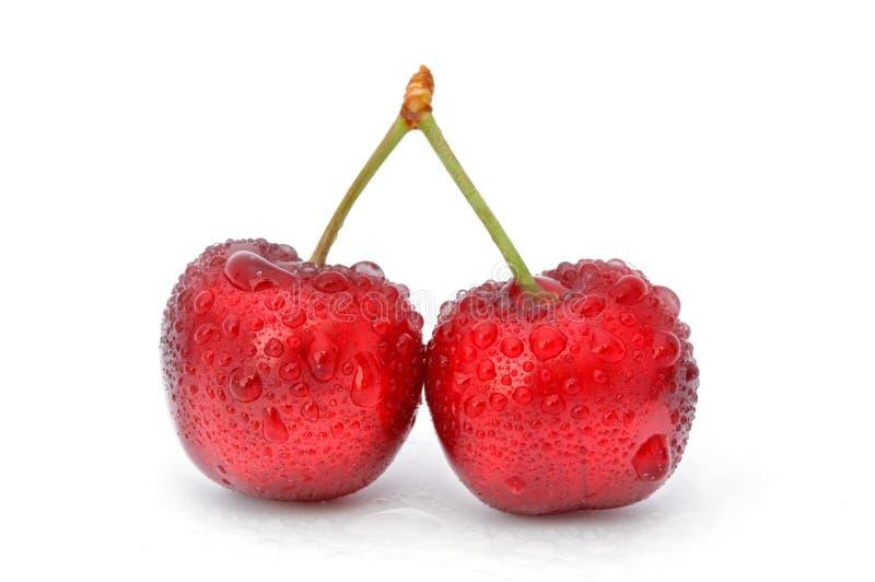 Cereja vermelha fotos de stock