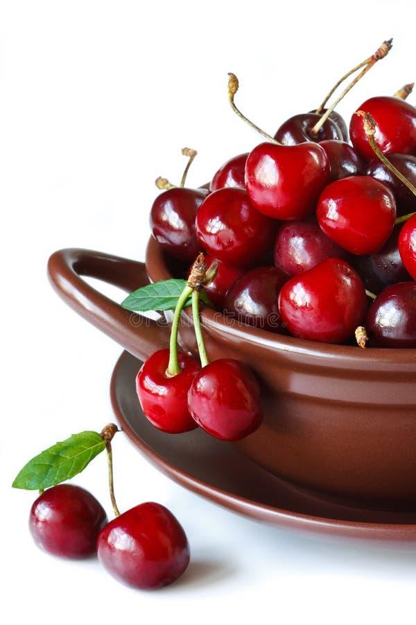 Cerejas doces. foto de stock royalty free