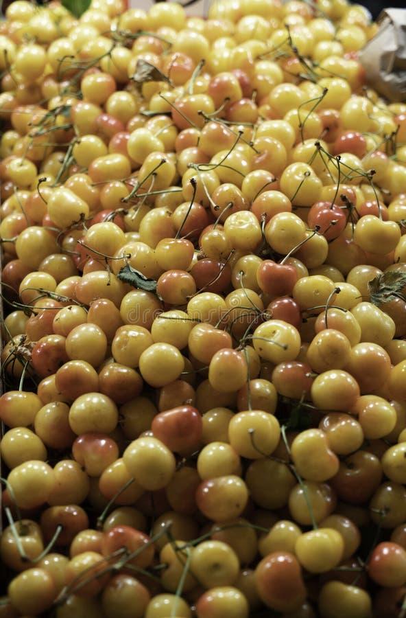 Cerejas frescas e fracas fotografia de stock royalty free