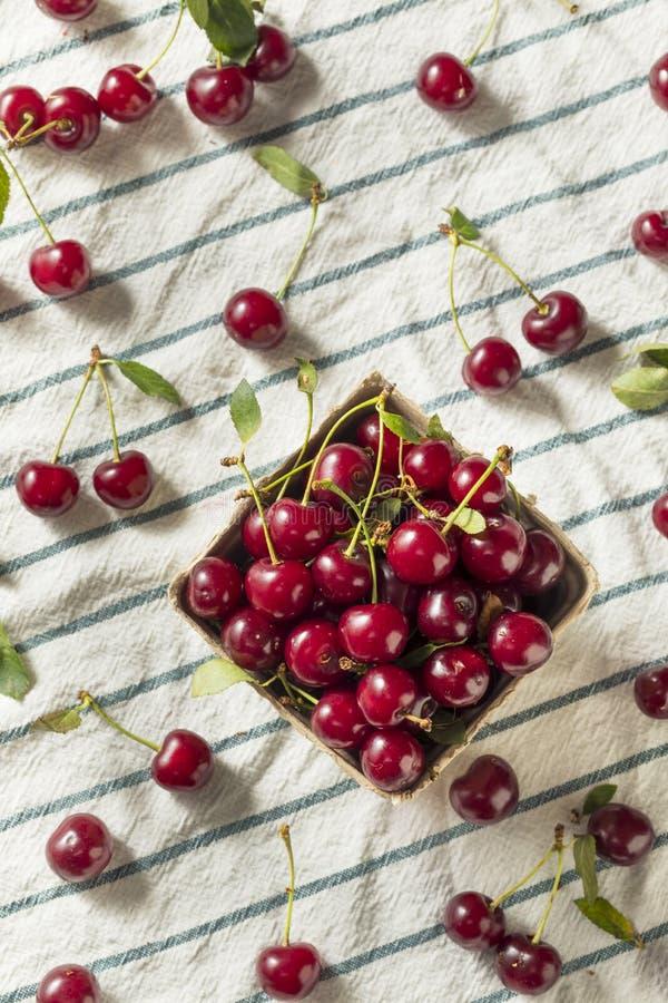 Cerejas orgânicas vermelhas cruas da galdéria imagem de stock royalty free