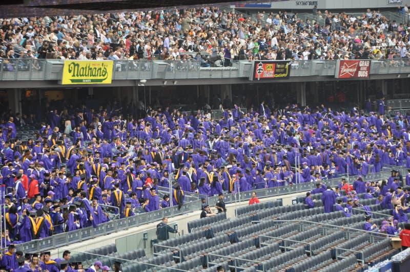 Ceremoni för avslutning för New York universitet (NYU) 181. arkivbild